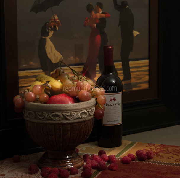 The Singing Butler with Wine and Fruit