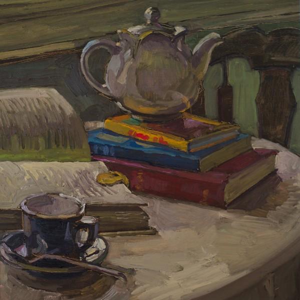 Tea Pot and Books
