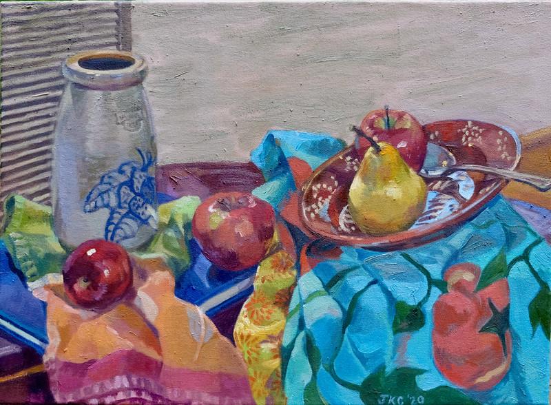 Mason Jug with Fruit