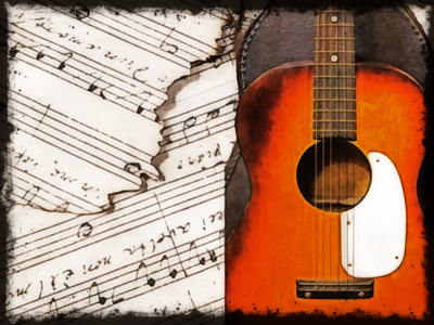 Guitar and Music Sheets