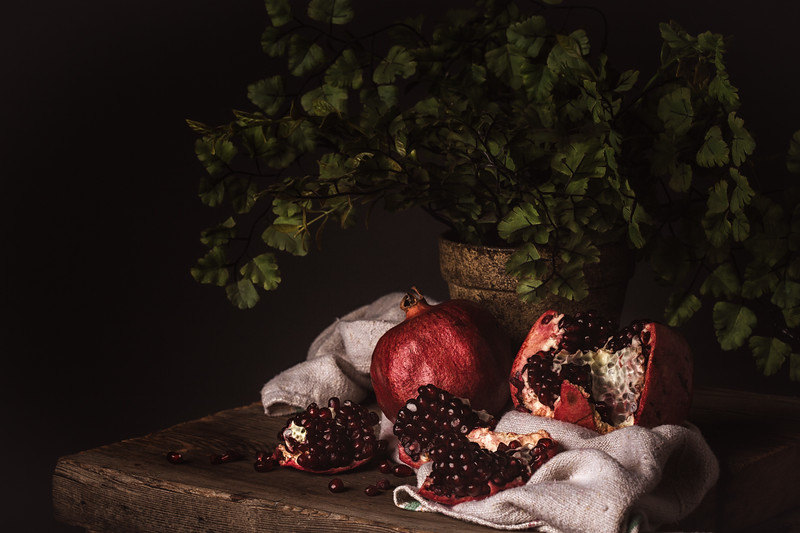 Pomegranate still life