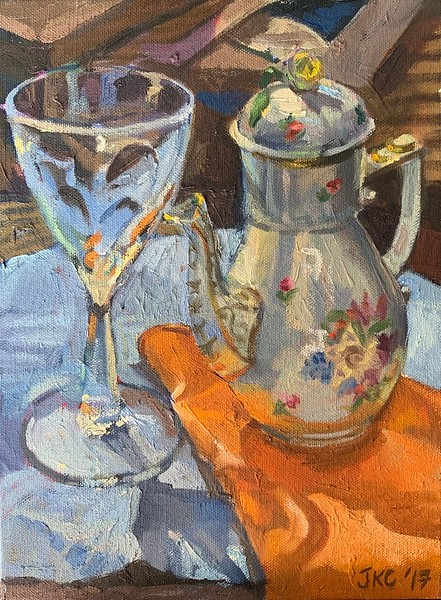 Wine Glass and Teapot