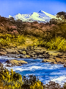 Photo of a Mount Ruapehu Painting
