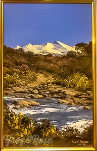 Painting and frame of Mount Ruapehu