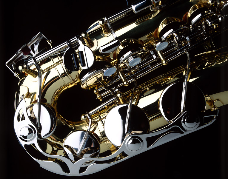 Saxophone close-up.  Copyright - W. Keith Baum | PhotoCanal.com