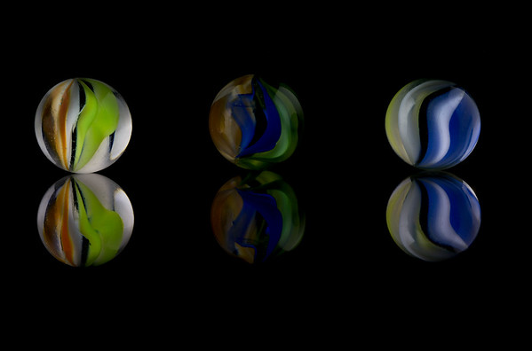 Three Cats Eye Marbles