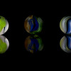 Three Cats Eye Marbles