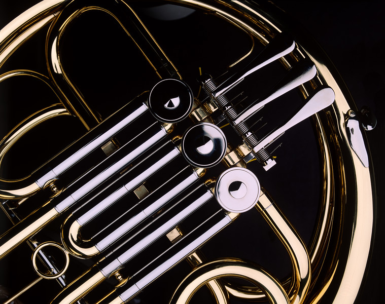 French Horn close-up.  Copyright - W. Keith Baum | PhotoCanal.com