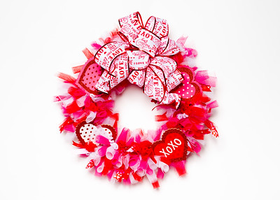Valentine's Day Craft Wreath