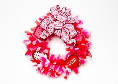 Valentine's Day Craft Wreath