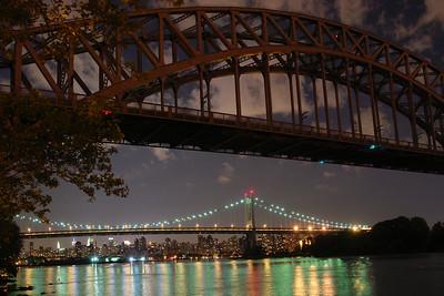 HELLGATE & RFK BRIDGES NIGHT SHOTS  (TRIBORO BRIDGE)