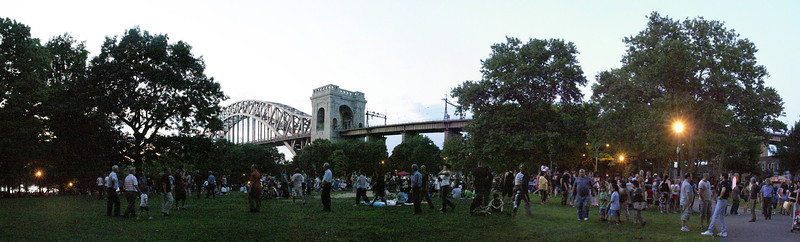 PANORAMIC OF THE HELLGATE  WAITING FOR THE FIRE WORK