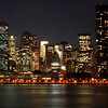 PANORAMIC NIGHT SHOT OF THE MIDTOWN EAST SIDE OF MANHATTAN