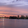 PANORAMIC VUE OF THE UPPER EAST SIDE OF MANHATTAN SUNSET