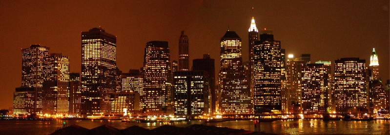 PANORAMIC VUE OF DOWN TOWN MANHATTAN