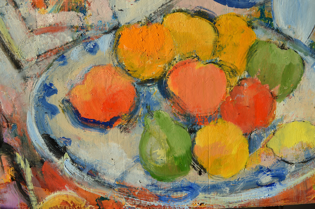 Still Life with Clarice Cliff Bowl. Detail
