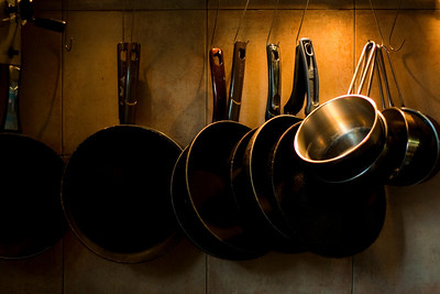 Pots and pan, a Fish restaurant, Novi Sad, Serbia