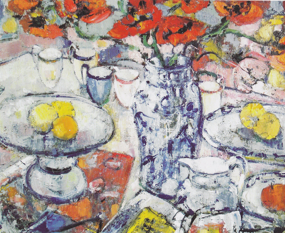 Peter McLaren, Still Life with Poppies, Oil on Board, 36 x 30 inches