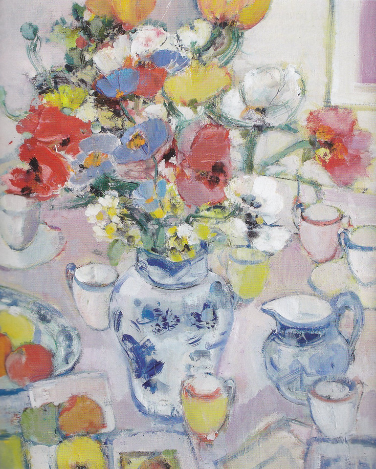 Peter McLaren, Still Life with Poppies & Tulips, Oil on Board  32 x 26 inches