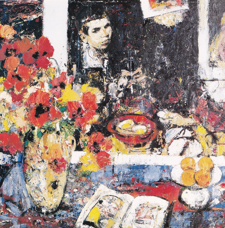 Peter McLaren, Homage to Velasquez with Vase of Poppies, Oil on Board, 48 x 48