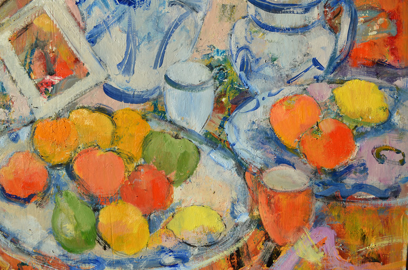 Still Life with Calrice Cliff Bowl. Detail