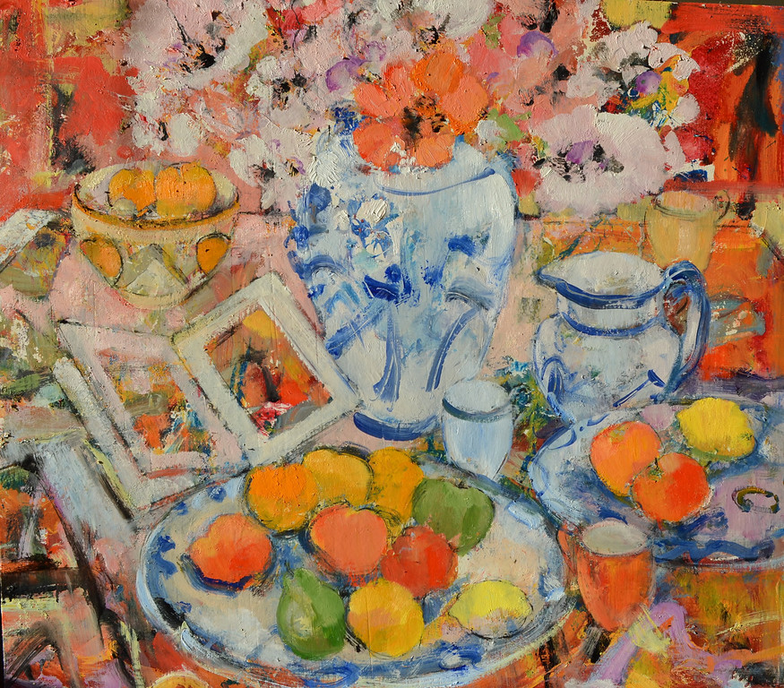 Still Life with Clarice Cliff Bowl, 34 x 30, £7,500