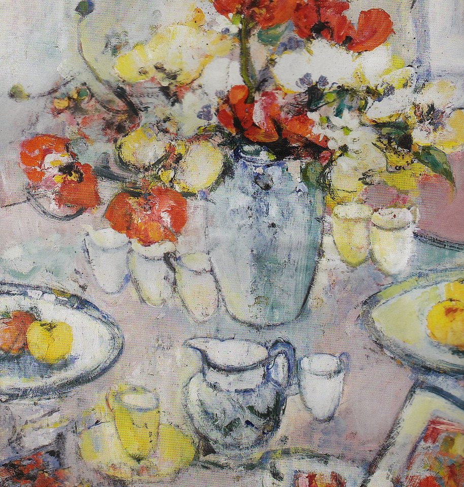 Peter McLaren, Still Life with Poppies. OIl on Board, 36 x 30 inches.