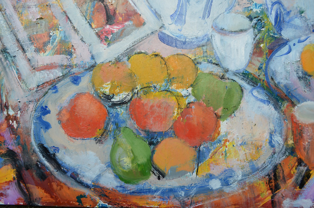 Still Life with Clarice Cliff Bowl, detail