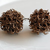Sweetgum seed pods on plain china