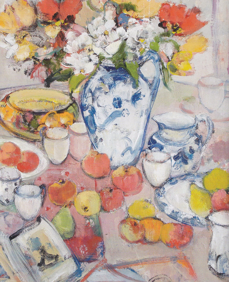 Peter McLaren, Still Life with Clarice Cliff Bowl, Oil on Board, 32 x 26 inches