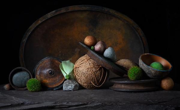 Still Life with Dutch Oven and Baseball