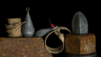 Leaves, Lead, Steel and Red - 15x26 • 2/13