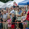 A large audience watches as members of the Massachusetts State Police put on a K9 demonstration during the Stillman Farm Country Fair in Lunenburg on Saturday afternoon. SENTINEL & ENTERPRISE / Ashley Green