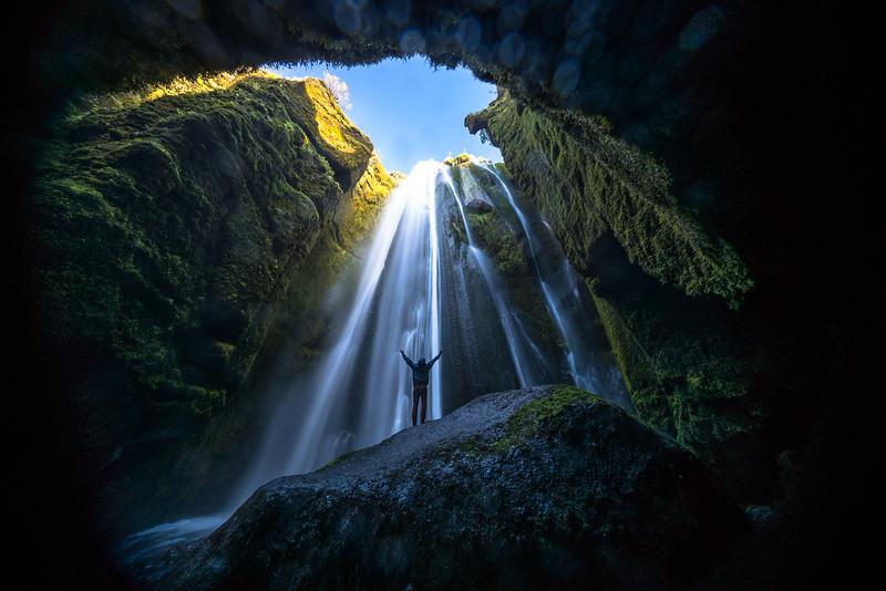 UNDERGROUND WATERFALL, ICELAND 2014