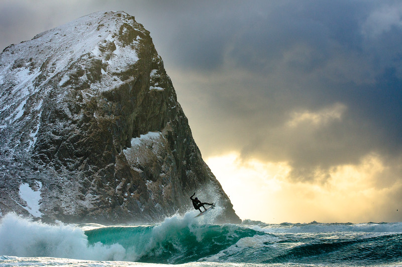 DANE GUDAUSKAS SURFING IN NORWAY, 2012