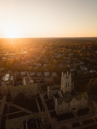 Sunset over Chestnut Hill.