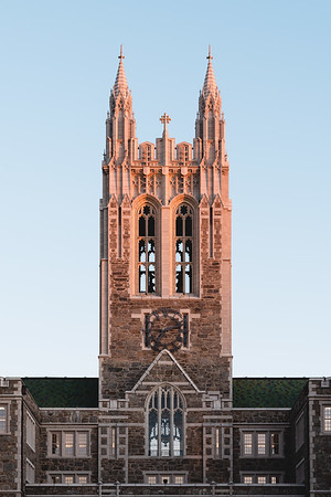 Gasson Hall basking in the first light of day.