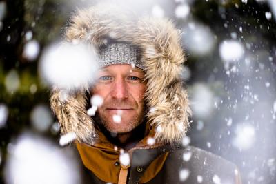 Through the snow in Alberta
