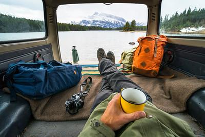 Relaxing in Alberta, Canada