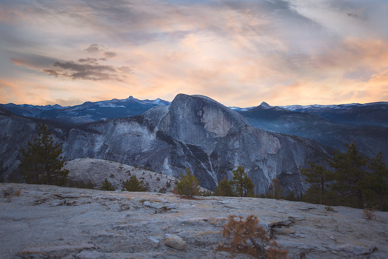 Half Dome from North Dome, CA