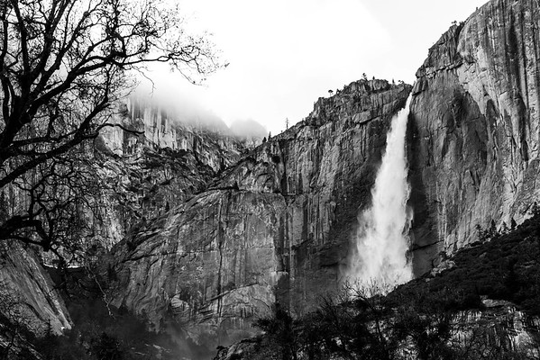 Yosemite Falls (B&W)