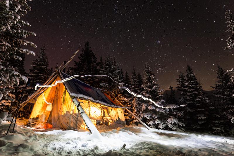 Sheep camp. Canadian Rockies.
