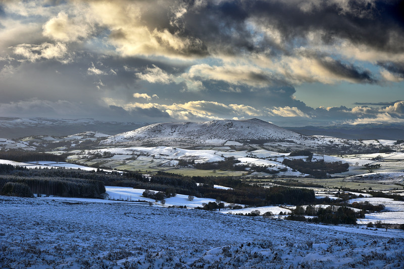 Corndon Hill viewed from the Stiperstones, Shropshire.