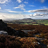 Corndon Hill viewd from the Stiperstones, Shropshire.