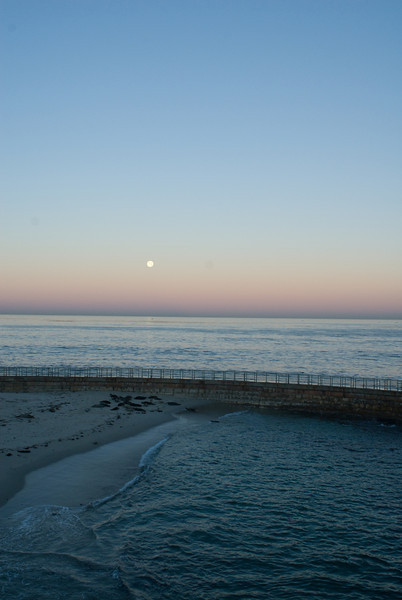 La Jolla Full Moon over the Children's Cove_-2