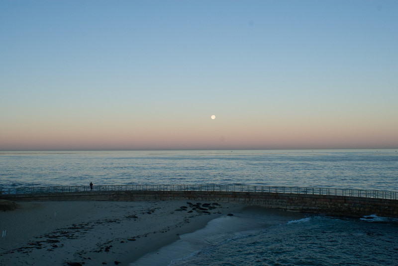 La Jolla Full Moon over the Children's Cove_-6