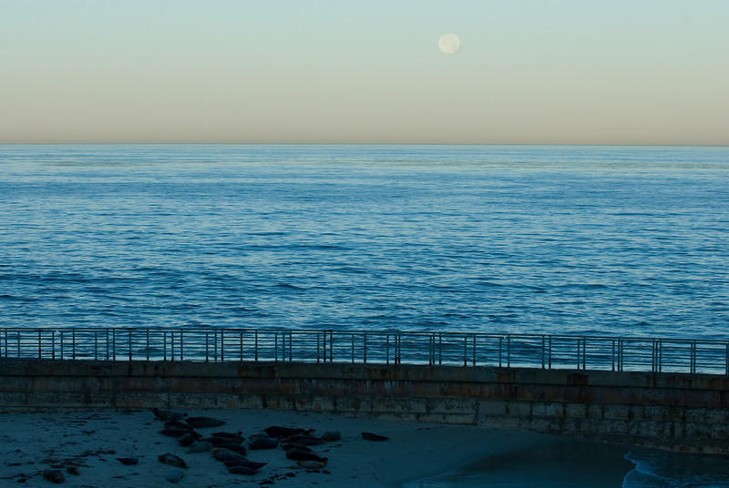 La Jolla Full Moon over the Children's Cove_-30