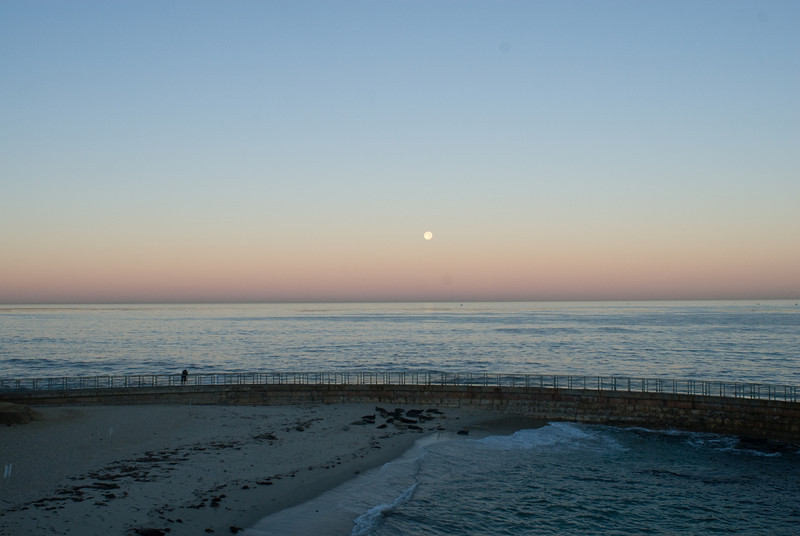 La Jolla Full Moon over the Children's Cove_-5
