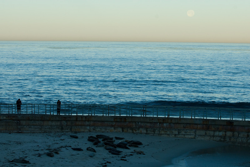 La Jolla Full Moon over the Children's Cove_-38