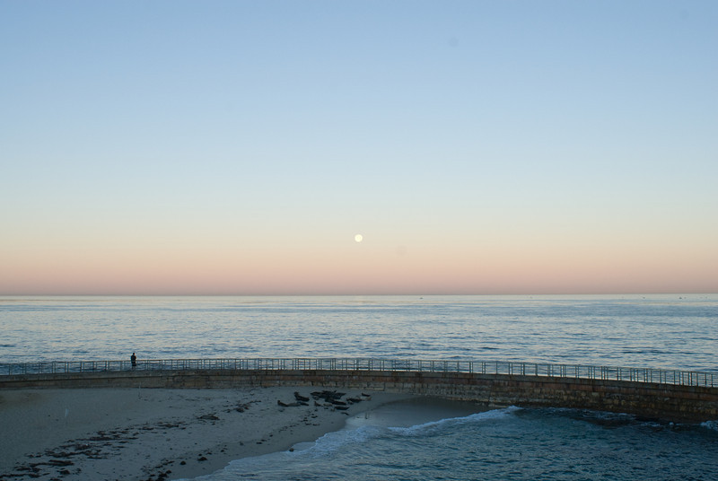 La Jolla Full Moon over the Children's Cove_-10